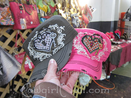 Military caps with heart shape and bling